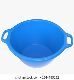 3D rendering illustration of a plastic basin