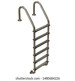 3D rendering illustration of a pool ladder