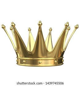 3D rendering illustration of a prince or king crown