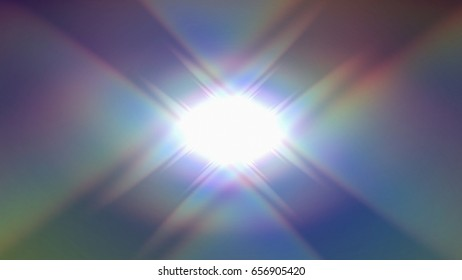 3D rendering illustration of a rainbow flare made from geometric structure design a