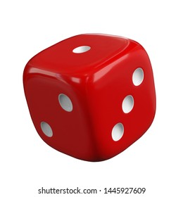 3D rendering illustration of a rounded dice