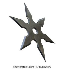 3D rendering illustration of a shuriken ninja star