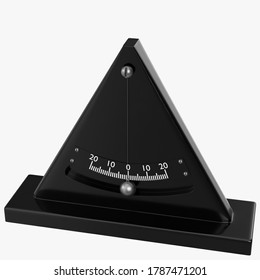 3D rendering illustration of a simple inclinometer