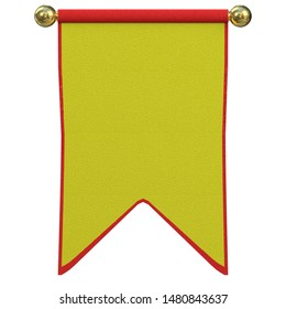 3D rendering illustration of a small medieval banner