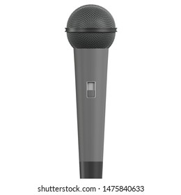 3D rendering illustration of a traditional microphone