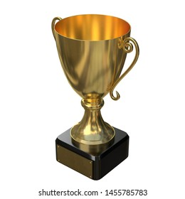 3D rendering illustration of a trophy cup