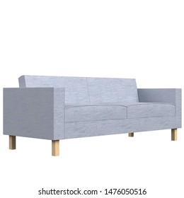 3D rendering illustration of a two seater sofa