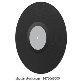 3D rendering illustration of a vinyl phonograph record