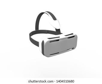 3D rendering 3D illustration of virtual reality glasses isolated in white background.