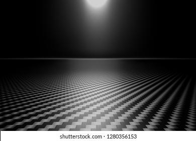 3d rendering image  carbon fiber background
