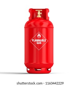 3d rendering image of classic gas cylinder