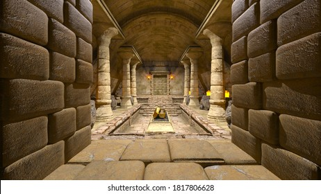 3D rendering of Inside the pyramid