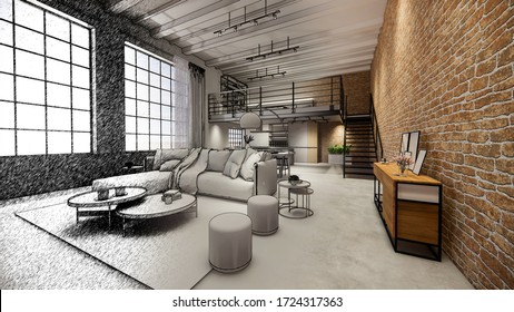 Duplex House Interior Images Stock Photos Vectors Shutterstock