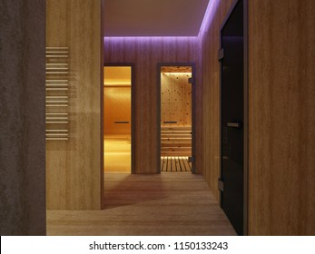 3D rendering Interior of luxury bath hammam