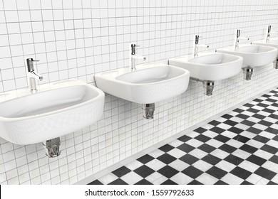 Public Bathroom Sink Hd Stock Images Shutterstock