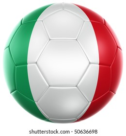 3d rendering of a Italian soccer ball isolated on a white background