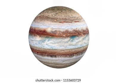 3d rendering of Jupiter planet isolated on white