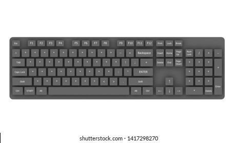 3D Rendering Keyboard Password Enter Asterisk