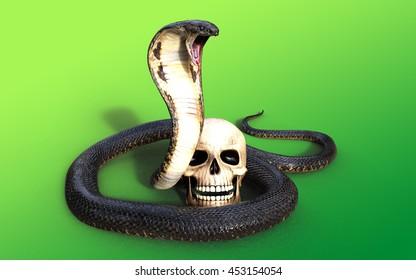3d rendering king cobra snake 260nw 453154054