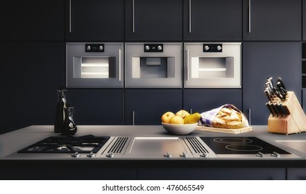 3D rendering - Kitchen Visualization