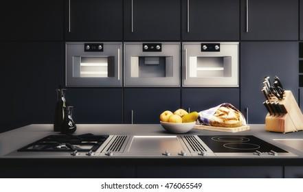 3D rendering - Kitchen Visualization