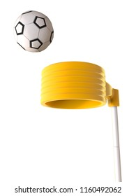 3D rendering of Korfball post - a ball sport with similarities to netball and basketball. It is played by two teams of eight players with four females and four males in each team