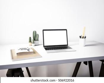 3d rendering of laptop