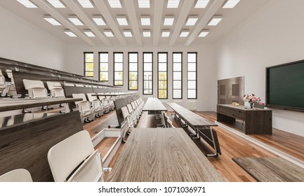 3d rendering of Lecture Theatre Interior Details