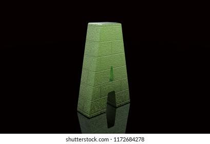 3D rendering letter A