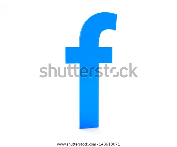 3D rendering of letter F made of transparent glass with Shades and Shadow isolated on white background illustration
