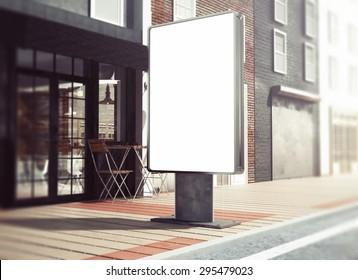 3d rendering of lightbox mockup