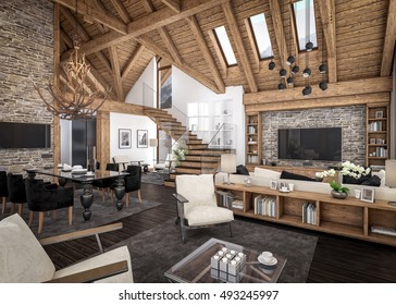 1000+ Chalet Interior Stock Images, Photos & Vectors ...