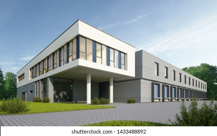 3d rendering of a logistic building
