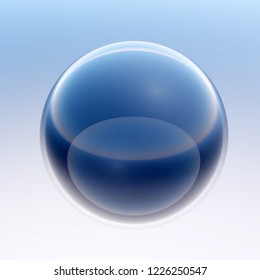 3d rendering of lucent glass bowl