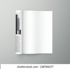 3D rendering of magazine
