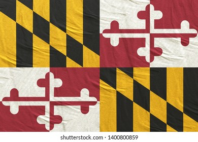 3d rendering of a Maryland State flag silk