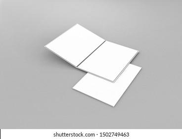 3d Rendering Menu cardboard folders
