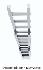 3d Rendering of metal ladder isolated