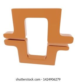 3d Rendering of metal object frame