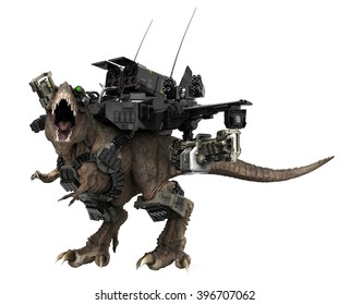 3D Rendering of the MK5 Battle Rex armed with Automatic Gauss Rifles, Rocket Pods, and Grenade Launchers.