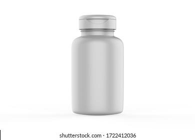 3D rendering Mock up jar for Packaging template on white background. 3d illustration