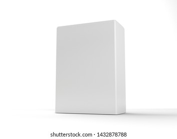 3D Rendering. Mockup Product on white background. Product object design box package3.