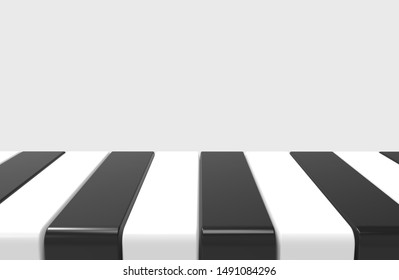 3d rendering. modern alternate black and white pattern design plate on gray wall background, in montage style.