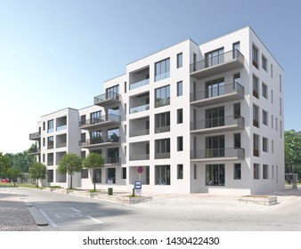 3d rendering of a modern apartment building