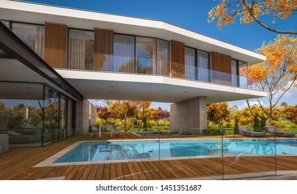 Moderne Villa Architektur Images Stock Photos Vectors