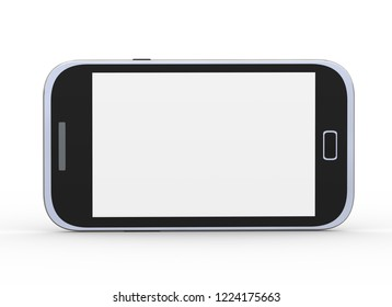 3d rendering of modern generic smart mobile phone on white background
