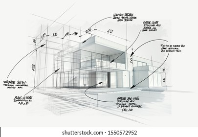 3D rendering of a modern  high end architecture project