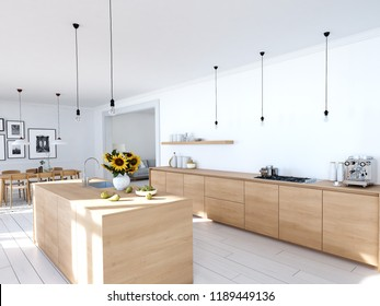 Scandinavian Kitchen Design High Res Stock Images Shutterstock