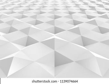 3d rendering. modern square grid pattern floor background.