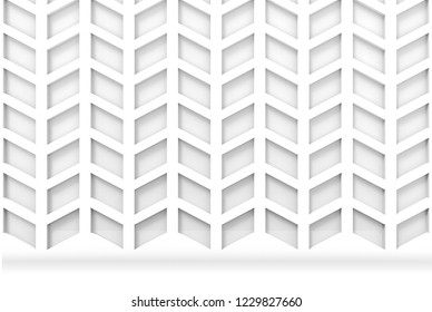3d rendering. modern trapezoid geometric pattern wall and floor background.